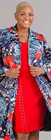 Luxe Moda 105 - Womens Swing Jacket With Pockets In Print Design