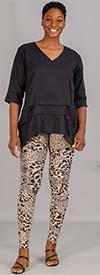 Etc. 02-Beige-Leopard - Womens Knit Leggings In Print Design