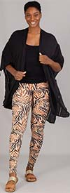 Etc. 02-Brown-Zebra - Womens Knit Leggings In Print Design