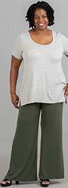 Marla Wynne 103 - Stretch Jersey Knit Fabric Womens Pull-On Pant