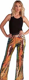 For Her 81556 Womens Sequin Design Pants