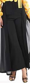 For Her 81595-Black -  Sheer Overlay Design Womens Pants