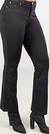 Iman 1201 - Womens Black Knit Pants