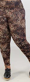 Lysse 10-1755-A2 Womens Stretch Knit Pant In Animal Print