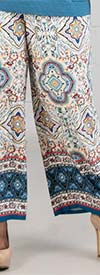 Melissa Paige MP1G208W Womens Pants In Tile Border Print Design