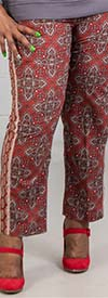 Skyes the Limit 39810 - Womens Drawstring Waist Print Design Pants