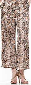 Why Dress P190549 Snake Print Womens Wide Leg Pant