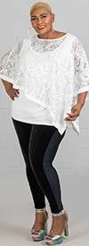 Yummie YT2447 - Womens Leggings With Velvet Front Panel Design