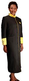 Regal Robes RR-9001 Black Gold Church Robe