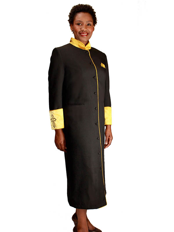 Regal Robes RR-9001 Black Gold Church Robe