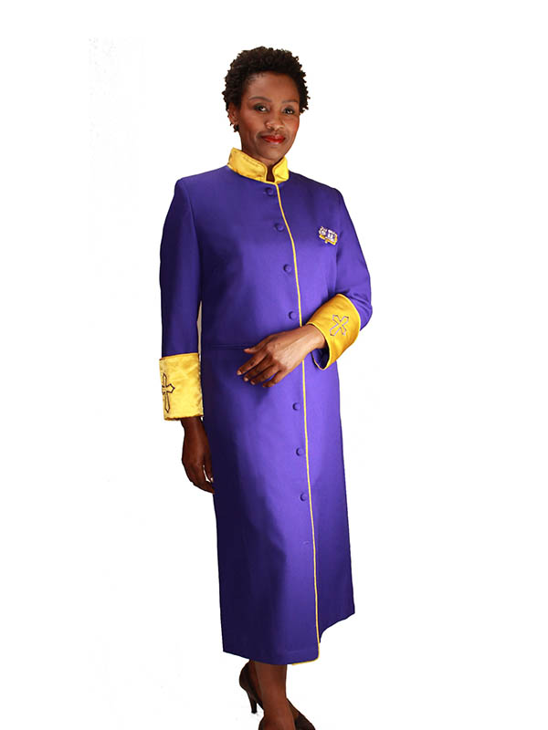 Regal Robes RR-9001 Purple Gold Church Robe