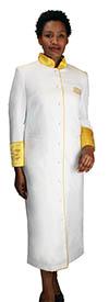 Regal Robes RR-9001 White Gold Church Robe