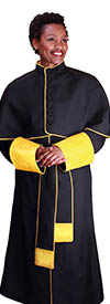 Regal Robes RR9002 Black Gold Church Robe