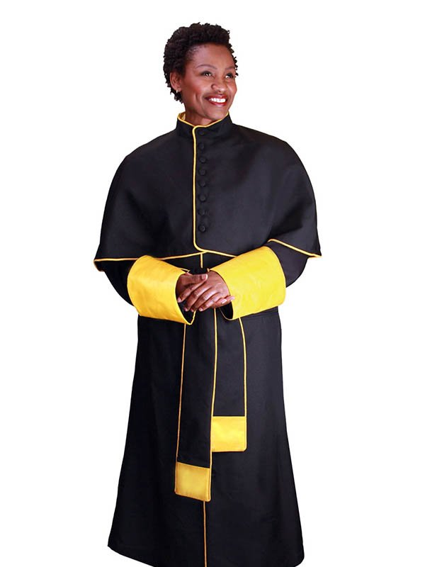 Regal Robes RR9002 Black Gold Church Robe