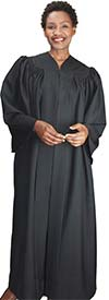 Regal Robes RR9081-Black -  Baptismal Church Robe With Bat Wing Style Sleeves