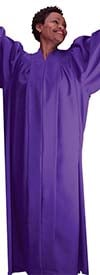 Regal Robes RR9081-Purple -  Baptismal Church Robe With Bat Wing Style Sleeves