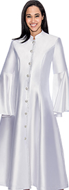 Regal Robes RR9031-White Church Robe With Flared Sleeves