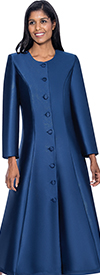 Regal Robes RR9041-Navy Church Robe With Flared Design