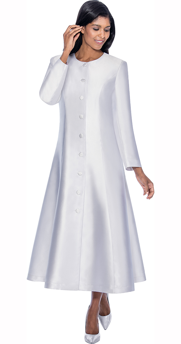 Regal Robes RR9041-White Church Robe With Flared Design