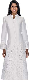 Regal Robes RR9121-White Church Robe With Foliage Texture Design