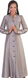 Tally Taylor 4445-Silver - Rhinestone Embellished Womens Cassock Church Robe