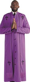 Tally Taylor 4591 Mens Church Robe With Cross Embroidered Stole Included