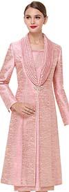 Serafina 3720 Long Shawl Lapel Jacket Dress Outfit
