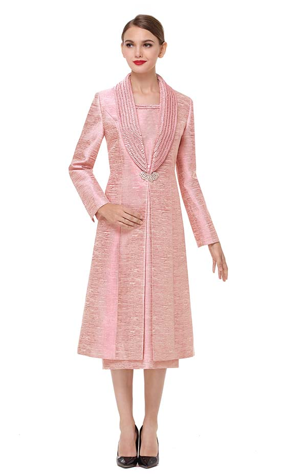 Serafina 3720 Long Shawl Lapel Jacket Dress Outfit