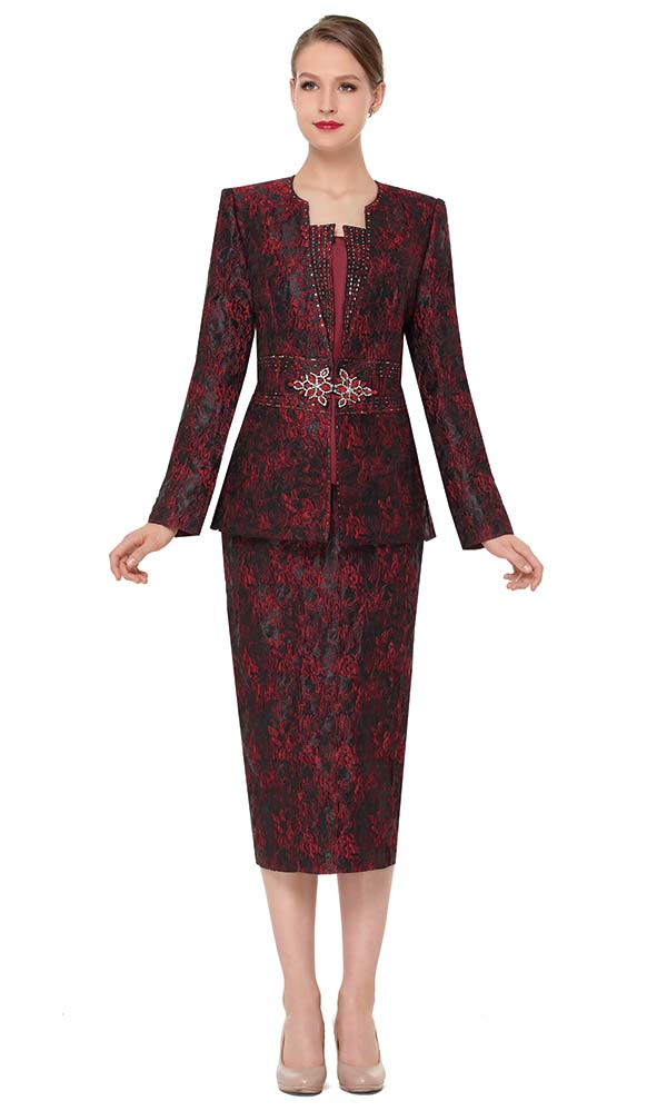 Serafina 3851 Womens Skirt Set With Print Design
