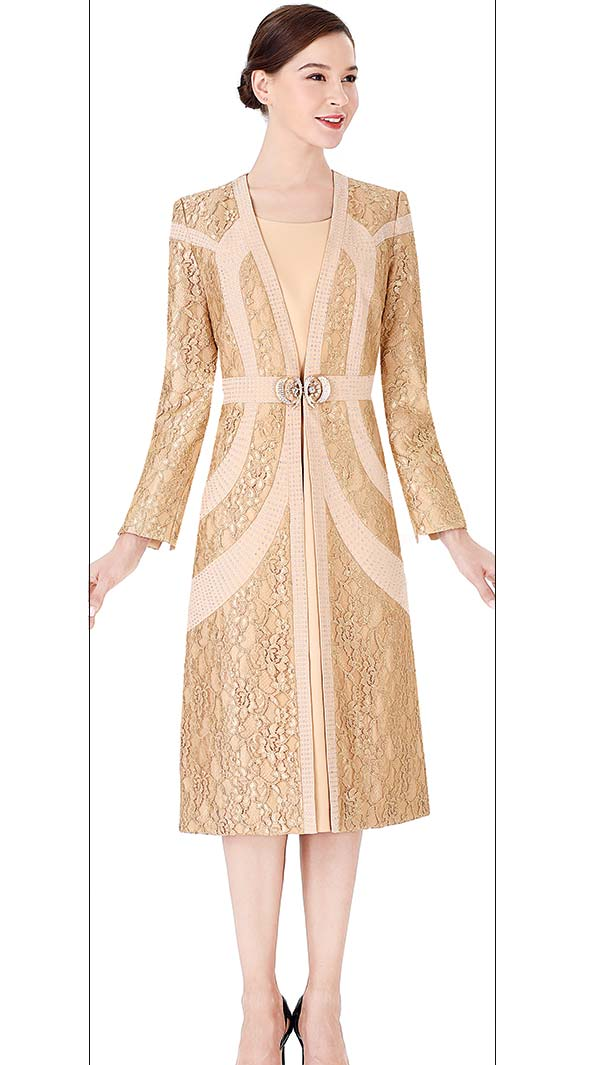 Serafina 3962 Church Dress / Jacket In Lace And Crepe Fabrics