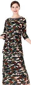 Serafina 467 Womens Carwash Skirt Suit With Camouflage Print Design