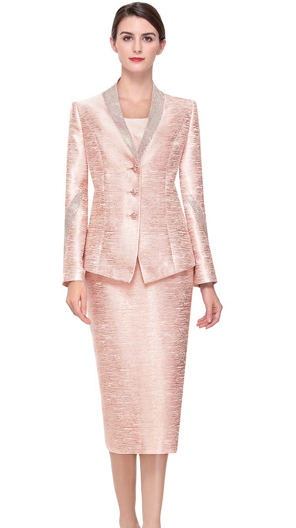 Serafina 3768 Skirt Suit With Embellished Trims