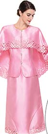 Serafina 3909 Cut-Out Design Church Suit With Cape Style Jacket