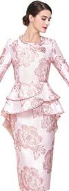 Serafina 3913 Skirt Suit With Layered Peplum Jacket