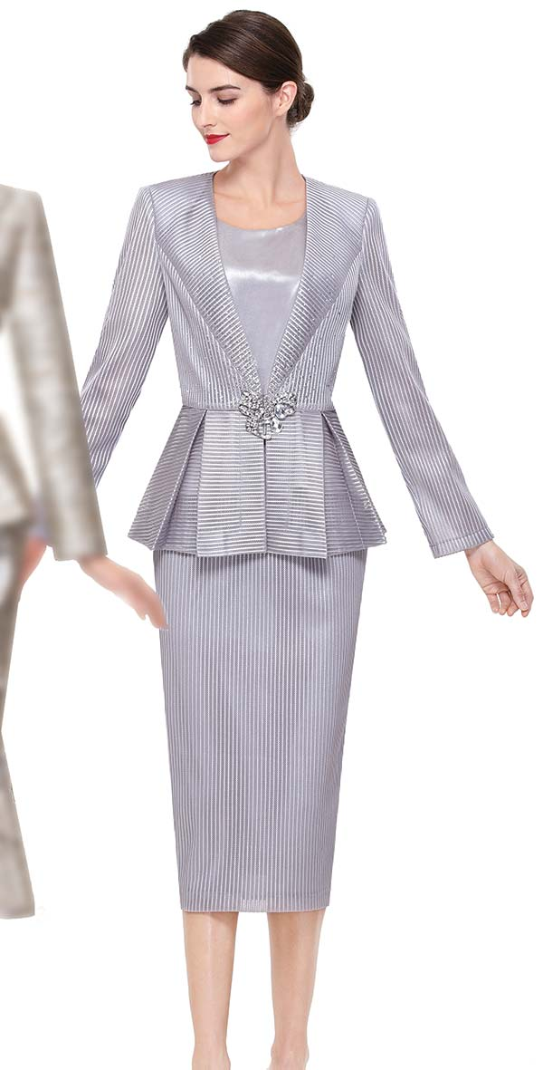 Serafina 3914 Womens Church Suit With Pleated Peplum Jacket