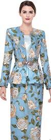 Serafina 3920 Skirt Set With Floral Design