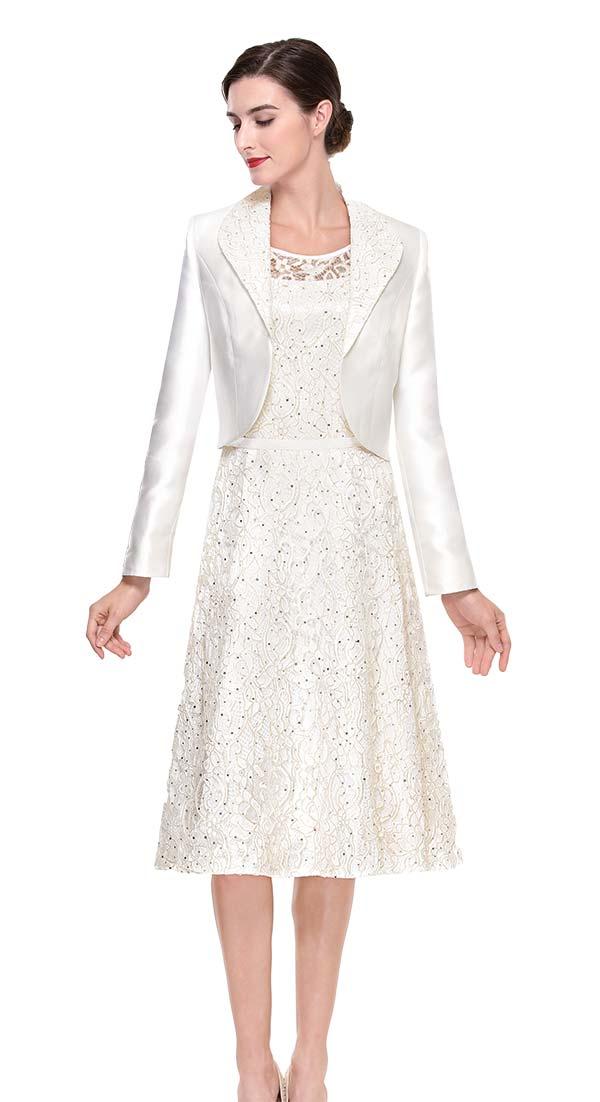 930ecf9e1b9452 Serafina 6185 Silky Lace Dress With Bolero Style Jacket