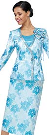 Serafina 4031 Womens Suit With Flower Pattern Print Design