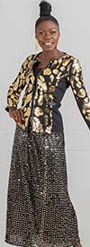 KaraChic CHH19015X - Sequin Polka Dot Design Skirt With Elastic Waist