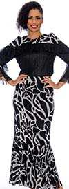 Raquel 2107 - Womens Maxi Skirt In Print Design