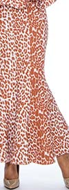 Raquel 2074 - Womens Leopard Print Flare Skirt In Scuba Fabric