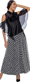 Raquel 2079 - Womens Back Zip Lace Overlay Design Lined Skirt