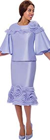 Rose Collection RC885-Lavender - Ruffled Trim Style Skirt