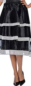 Raquel 2100 - Womens Multi-Tier Design Skirt
