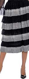Raquel 2104 - Womens Tiered Midi Skirt