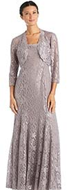 R&M Richards 2352 - Womens Two Piece Bolero Style Jacket And Dress Set In Lace Design