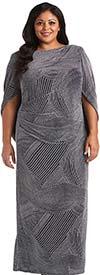 R&M Richards 5912W - Womens Dress Featuring Draped Detail