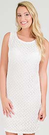 Mlle Gabrielle 25016 - Womens Sleeveless Dress In Lace Design