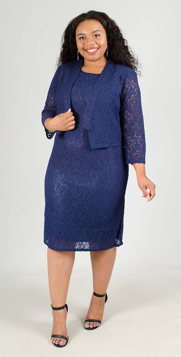 Lino-4706-Two Piece Lace Jacket And Dress Set
