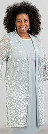 Maya-Brooke-29004-SkyBlue - Sleeveless Dress With Lace Flounce Sleeve Duster Style Jacket